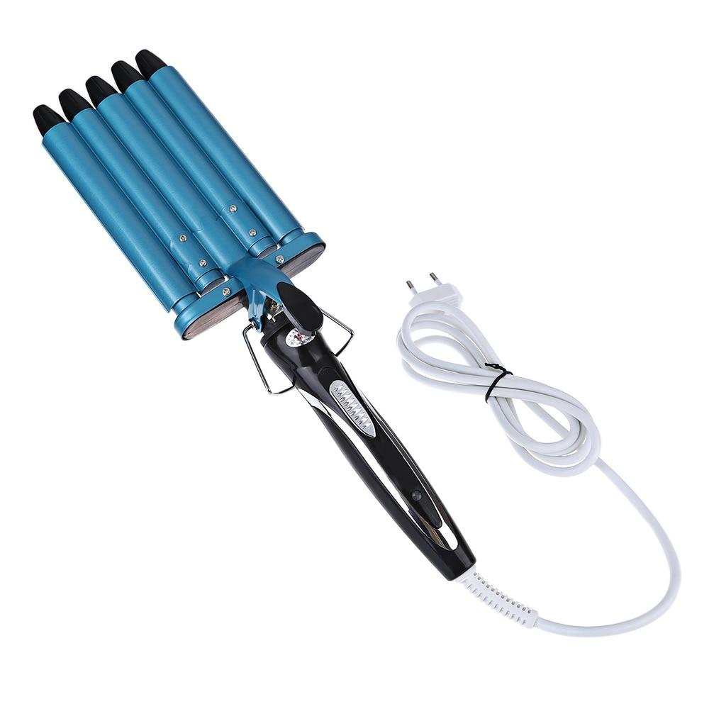 Bigodino di capelli 160/190/220 Gradi Regolabile di Curling Bacchetta Botte di Ferro di Calore Rapido Strumenti di Uso Dei Capelli Diverso strumento di Bellezza dei capelli