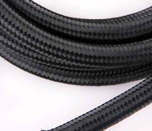 HT Racing Store--1pcs NYLON BRAID 4an an4 an-4 braided hose fitting transmission oil cooler kits fuel oil hose 1 meter