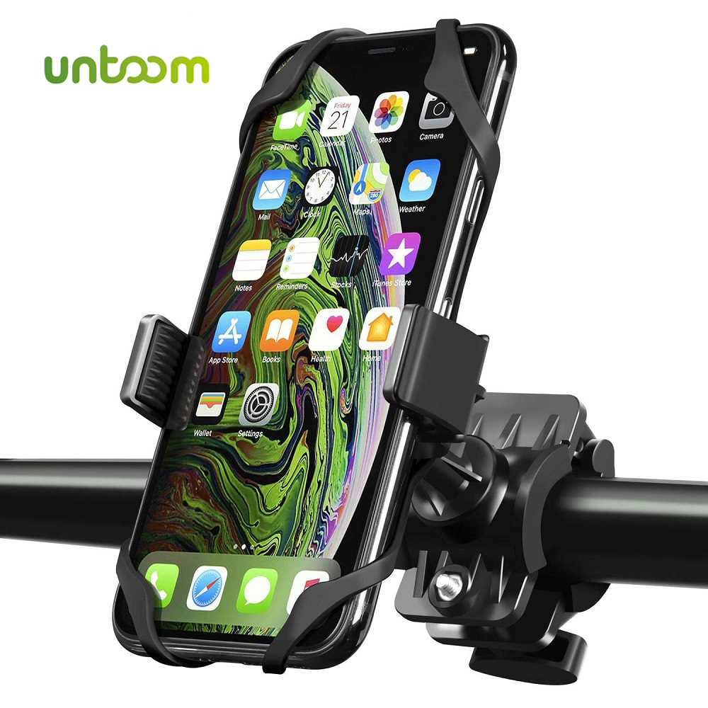 Untoom Bike Phone Holder Universal Cell Phone Bicycle Motorcycle MTB Handlebar Mount Cradle for iPhone X Xs Max 8 7 Plus Samsung