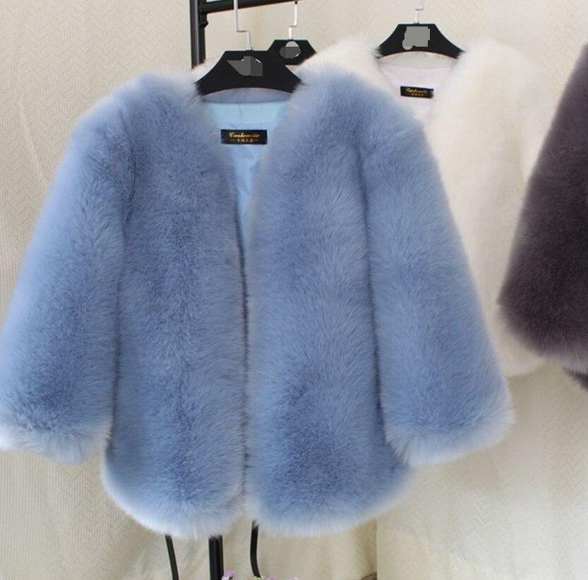 Chaud Pardessus Renard Aw284 V Peluche Outwear Fourrure Furry Preppy Hiver De Artificielle Col Faux Femmes Vintage En Style Manteau qg0I1wtx