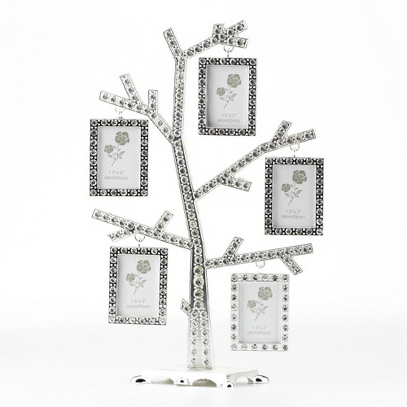 New Arrival Pewter Photo Frames Family / Baby Tree Design 5 Photos ...