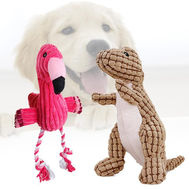 Pink Flamingo Funny Pet Dog Toys For Small Large Dogs Animals Puppy Products Supplies Plush Training Chewing Dogs Toys Pets S3