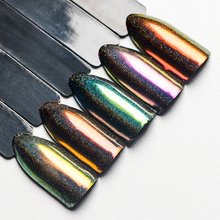 T-TIAO CLUB 0.2g Holographic Nail Glitter Powder Dust Mirror Chameleon Effect Art Decorations DIY Manicure Designs