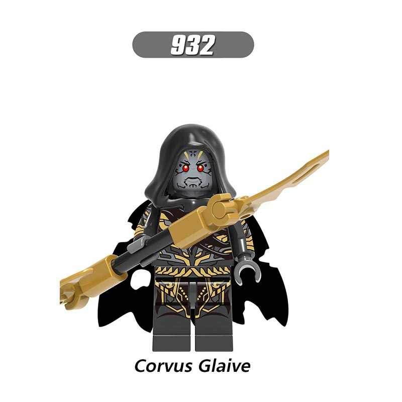 Single Sale LegoINGlys Super Heroes  Avengers 3 The Big Bang Mini Figures Corvus Glaive Building Blocks Toys Children Gift X0125