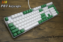 Translucidus Keycap Weiß Grün spiel 108 PBT Hintergrundbeleuchtung Keycap OEM Profil Für Mx-schalter Mechanical Keyboard Gaming Tastatur