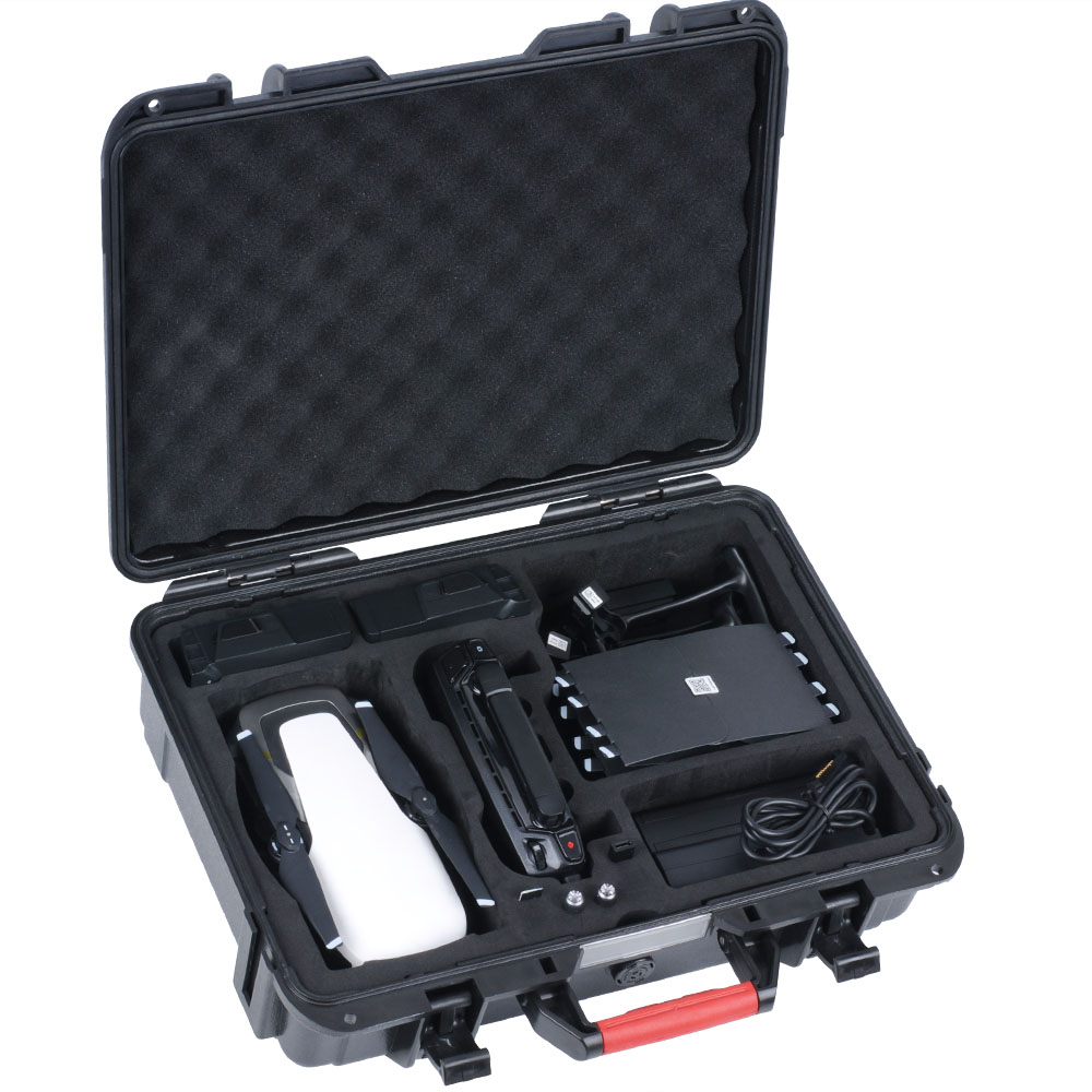 Tüketici Elektroniği'ten Kamera / Video Çantaları'de Smatree taşınabilir sert taşıma çantası DJI Mavic hava/piller/pil şarj cihazı/pervane koruyucu  su geçirmez Drone title=