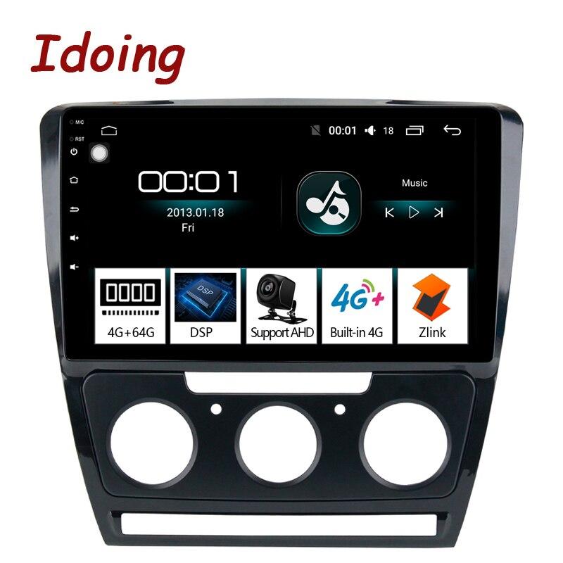 Idoing 10.2 1Din 2.5D IPS 4G+64G Octa Core Car Android 8.1 Radio Multimedia Player For Skoda Octavia 2007-2014 GPS Navigation