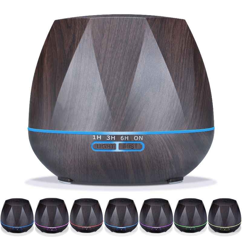Hot Sale LED  Light  550ML Ultrasonic Air Humidifier Mist Maker Fogger Electric Aroma Diffuser Essential Oil Aromatherapy Househ 2016 new hot sale led light aromatherapy air humidifier essential oil aroma diffuser ultrasonic mist maker for home appliance