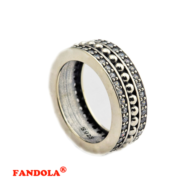 Authentic 925 Sterling Silver Jewelry Forever Rings with Clear Cubic Free Shipping