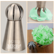 (20pcs/lot)Free Shipping New stainless steel Russian ball flower pastry piping tips#NO103