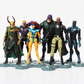 Los vengadores 2 Age de Ultron PVC figura de acción juguetes superhéroes negro viuda Loki Hawkeye Nick Fury Phoenix figura de juguete 6 unids/set