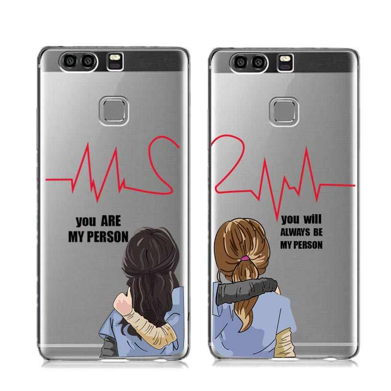 You're My Person You will always be My Person Soft TPU Phone Case For Huawei P8 P9 Lite 2017 P10 P20 Lite Mate 10 20 Pro Cover