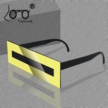 Festival Glasses Party Points Sun One Piece Rectangle Sunglasses