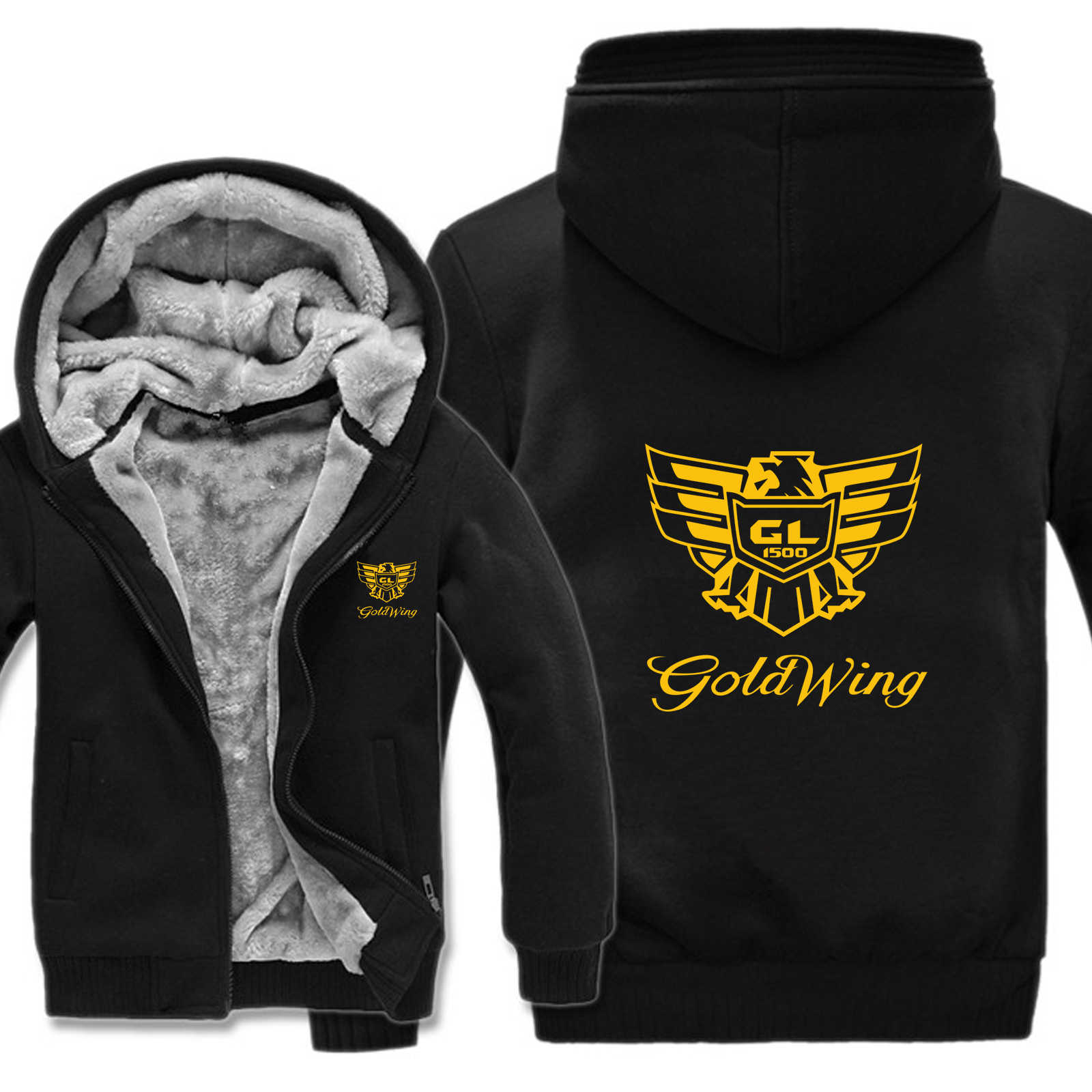 Goldwing GL1500 sweat à capuche pour homme hiver veste de doublure en laine Thinken sweat-shirts Goldwing HS-087