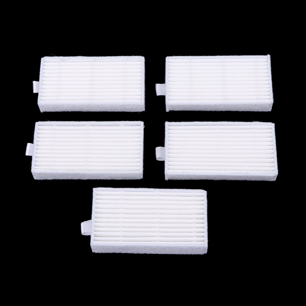 5Pcs Replacement Filters Parts HEPA Cleaner For Cleaning Robot Vacuum Accessory For ECOVACS CR120 CEN540 For Dibea X500 X580 4 hepa filter 6 side brush 3l 3r kit for ecovacs dibea x500 x580