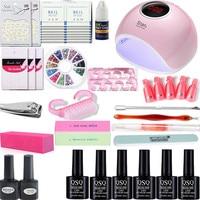 nail art set UV LED LAMP Dryer & 6 Color Gel Nail Polish Set kit Nail Tools Gel Varnish lacquer manicure tools kit