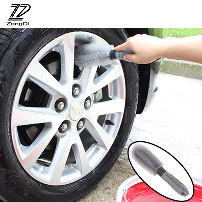 ZD Car Hub Wheel Cleaning Brush Tools Anti-wear For Ford Focus 2 3 Fiesta Mondeo Ranger Kuga Seat Leon Ibiza Lexus Accessories