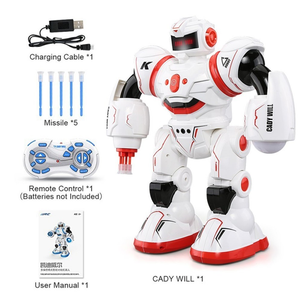 JJRC R3 Programmable Defender Remote Control Early Education Intelligent Robot Multi Funtion Musical Dancing RC Toy Kids Gift 2018 new intelligent cady wigi jjrc r6 remote control programmable dancing usb rc robot t vader stormtrooper model toy for kids