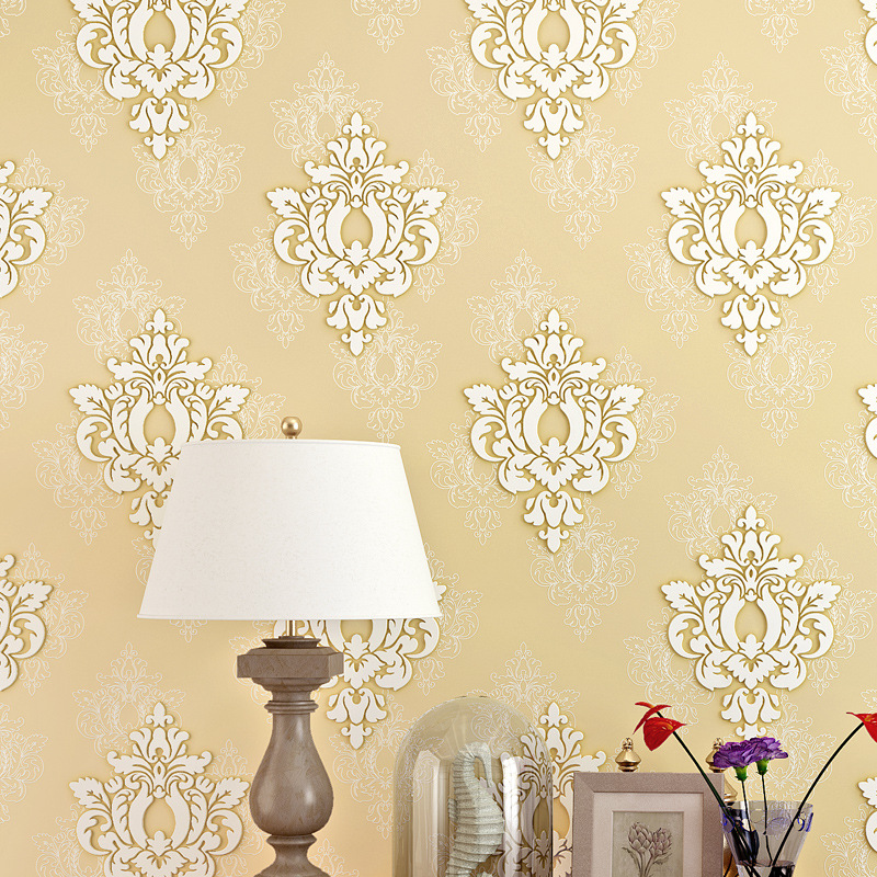 beibehang European fine pressure 3D non woven Wall Paper Home Decor ...