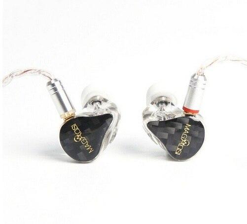 AK Magaosi X3 3 Balanced Armature carbon fibre In ear Earphone HIFI Monitoring With Headplug MMCX