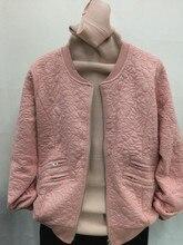 Оформление — 2015 женская осень и зима Высокое качество свободные Тонкий верхняя одежда хлопка-ватник дизайн короткий малого пиджак