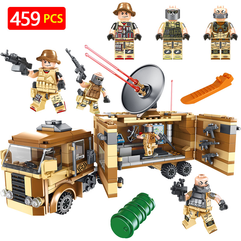 Military Series Blocks Set LegoINGLYS Technic War Communication Vehicle Modle Mini Action Figures Bricks Enlightening Toys цена