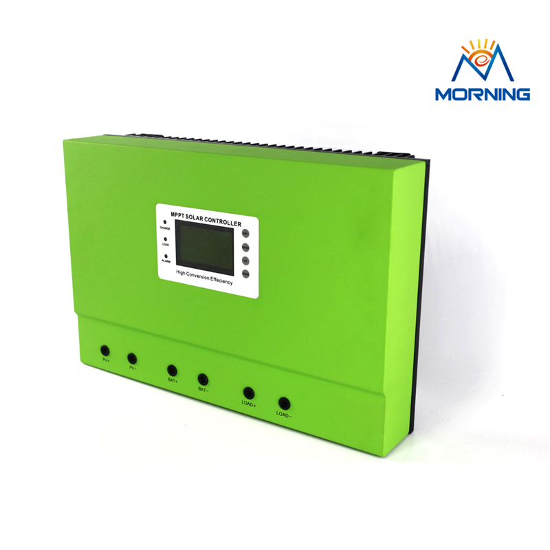 Master-B MPPT 40A 50A 80A DC 48V 96V solar system charge controller with RS232 /LAN or RS485/LAN self-cooling heatbarrier high quality smart2 48v 50a mppt solar charge controller with rs232 lan dc load ctrl 50a 48v pv regulator
