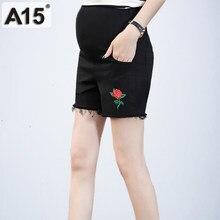 b5260bc36 Summer Denim maternidad pantalones cortos para las mujeres embarazadas ropa  embarazo ropa de algodón del vientre corto Ripped Je.