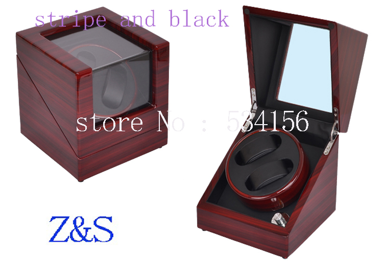 Single high gloss wooden automatic watch winder, winder display jewelry gift box