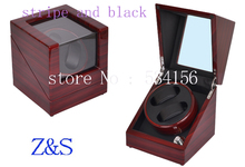 high end p0078 le leather 2 seats automatic watch winder for gift Single high gloss wooden automatic watch winder, watch winder display jewelry gift box watch box