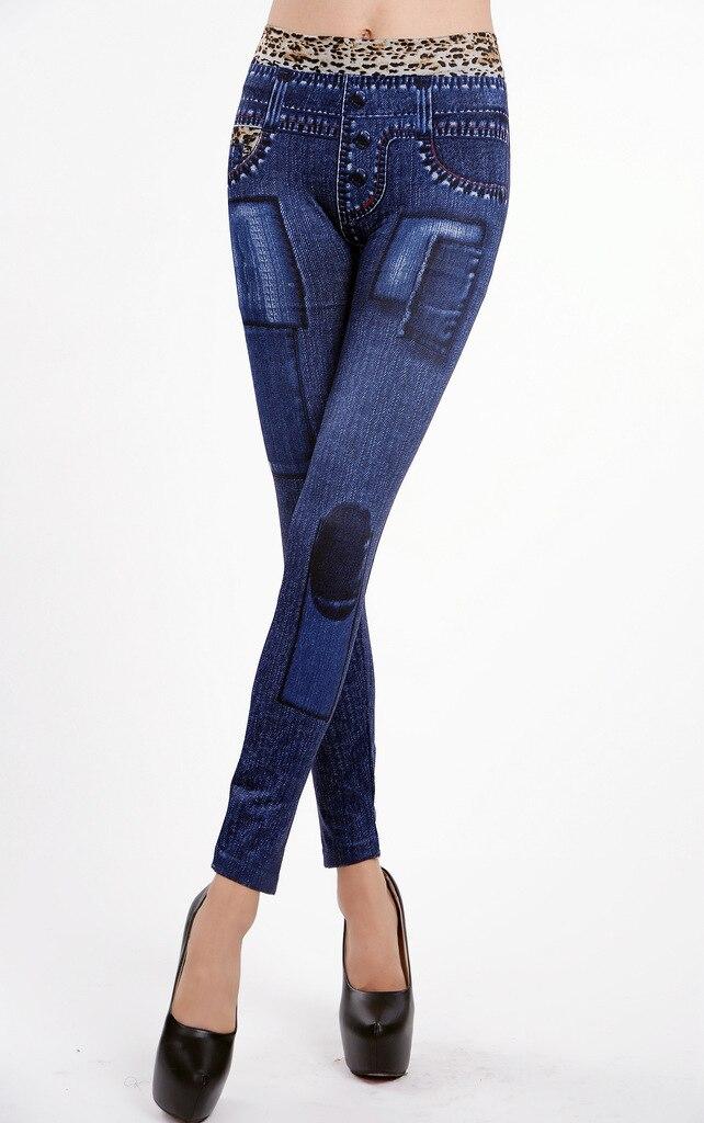 Leopard Print Women's Jean's Leggings - One Size Fits All - Blue or Black - image HTB1nFY0aDwKL1JjSZFgq6z6aVXaF on https://awesomeleggingstore.com