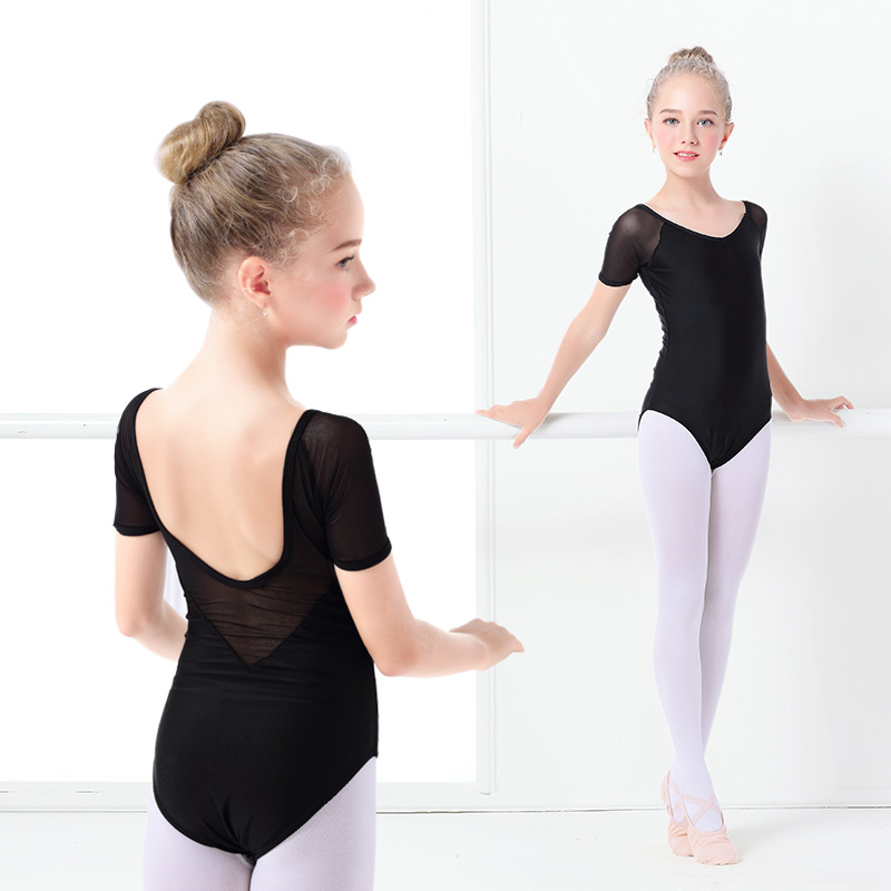 1802a0c2d3b0 Detail Feedback Questions about Kids Black Dance Leotard Girls ...