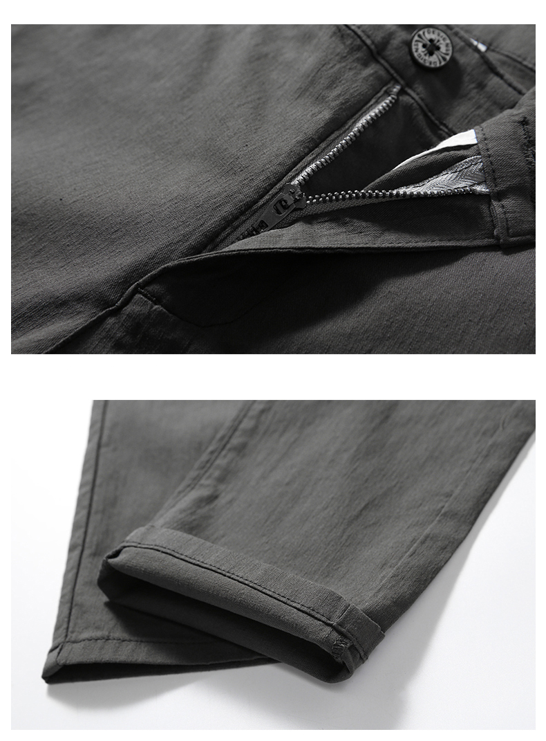 Casual Men Cotton Slim Fit Chinos Pants 12