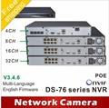 O envio gratuito de 5MP 6MP 4MP câmera de 3MP POE NVR 4CH 8CH 16CH HD DS-7604N-E1/4 P DS-7608N-E2/8 P DS-7616N-E2/8 P ds 7604 7608 7616 ds-7604