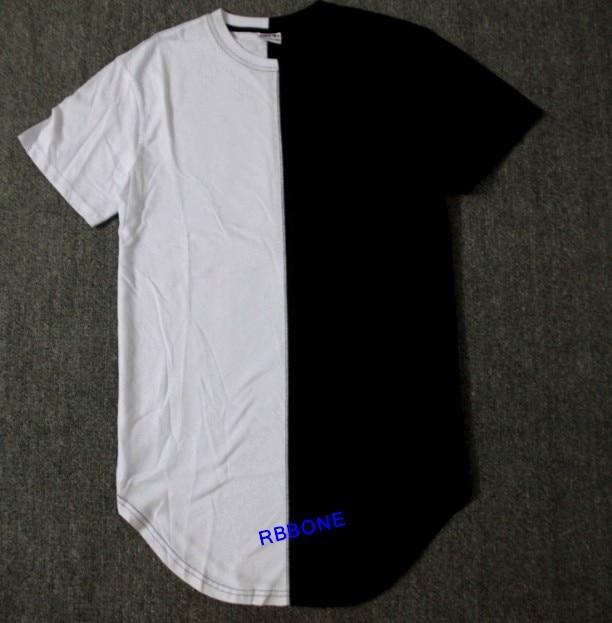 half black and white New Designer 2015 Men Summer Dress Tee Tshirt ...