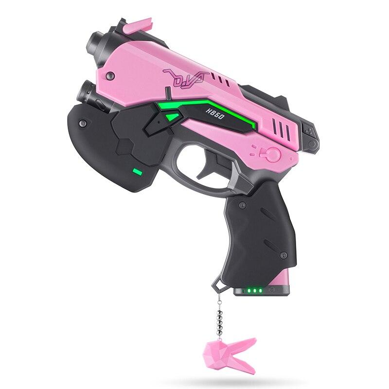 8000 mah LED D. va Pistolet Pour Cosplay Props Dva Pistolet D. va Pistolet Avec La Lumière Hana Chanson arme Costume Accessoire Avec Câble