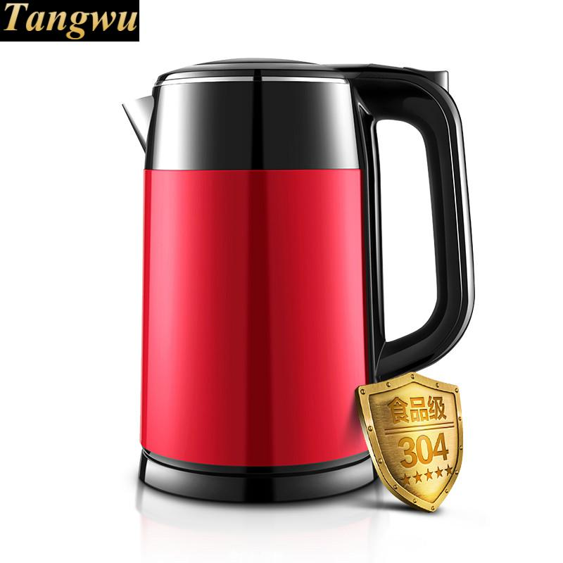 electric kettle USES 304 stainless steel automatic power off free shipping automatic power off of stainless steel electric kettle