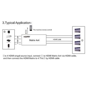 Image 4 - Commutateur matriciel HDMI FullHD 4K 2K 3D 1080P 4X4 4x2 adaptateur convertisseur séparateur, contrôle IR + AC3 Audio pour HDTV livraison gratuite