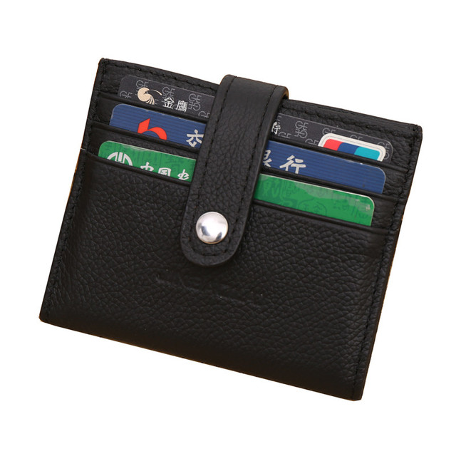 New mens mini slim card wallet solid color hasp leather card holder new mens mini slim card wallet solid color hasp leather card holder wallet purse business card reheart Image collections