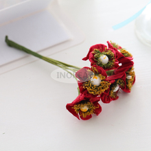 72 Handmade Mulberry Paper Flowers Red Wedding Snapdragons JY-1001