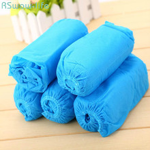 100Pcs Dust-Proof Skid-Proof Thicker Disposable Non-Woven Dust Cover Sheaths Wear-Resistant Breathable Household Shoe