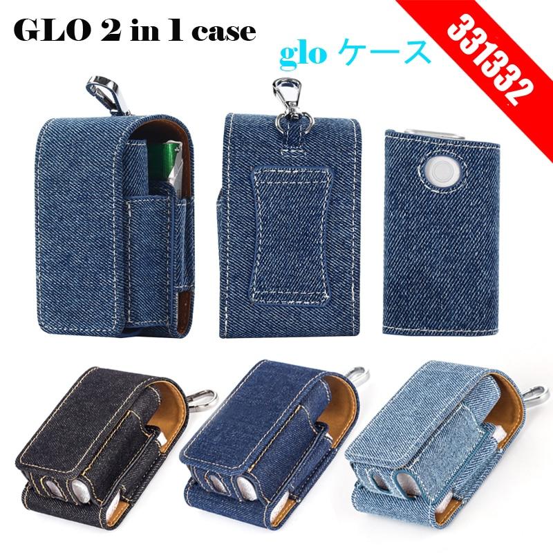 2 in 1 sammeln Schutzhülle für Glo Denim Leder Tasche für Glo Ecig Holder