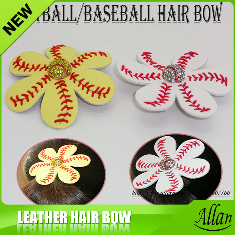 9e4652899 Softball and Baseball flower Flip Flop Clips and Hair Clips-in Hair Jewelry  from Jewelry   Accessories on Aliexpress.com