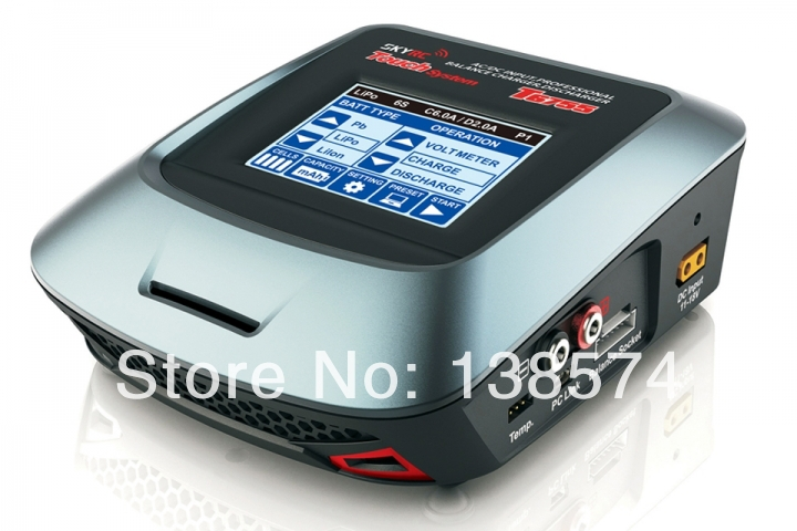 Original Skyrc T6755 AC DC fast Charge Balance Charger with 3.2inch (320*240 dot) touch sensitive color LCD screen skyrc d100 2 100w ac dc dual balance charger 10a charge 5a discharge nimh lipo battery charger twin channel charge