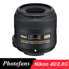 Nikon 40 2.8 г Dx Micro Объектив Nikkor 40 мм f/2.8 Г AF-S Объектив для D3400 D5500 D3300 D3200 D5300 D5200 D90 D7100 D7200 D500 D300