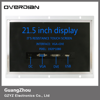 """21""""/21.5"""" VGA/USB/DVI Interface Industrial Control Monitor/Display 1920*1080 Metal Shell Open Frame Installation Single Touch"""