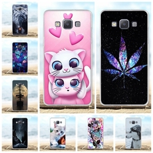 For Samsung Galaxy A5 Case Soft TPU Silicone A500F A500FU Cover Beach Patterned Bag
