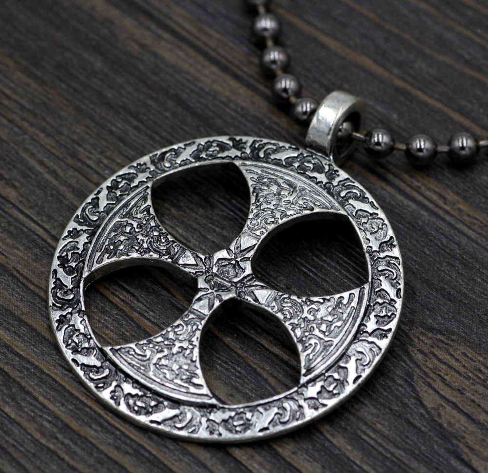 mens cross pendant cdl jewelry necklace celtic bling steel knot stainless