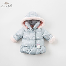 Jacket Children Dave Bella Outerwear Rabbit-Coat Baby-Girls Fashion DBM8186 Long-Sleeve