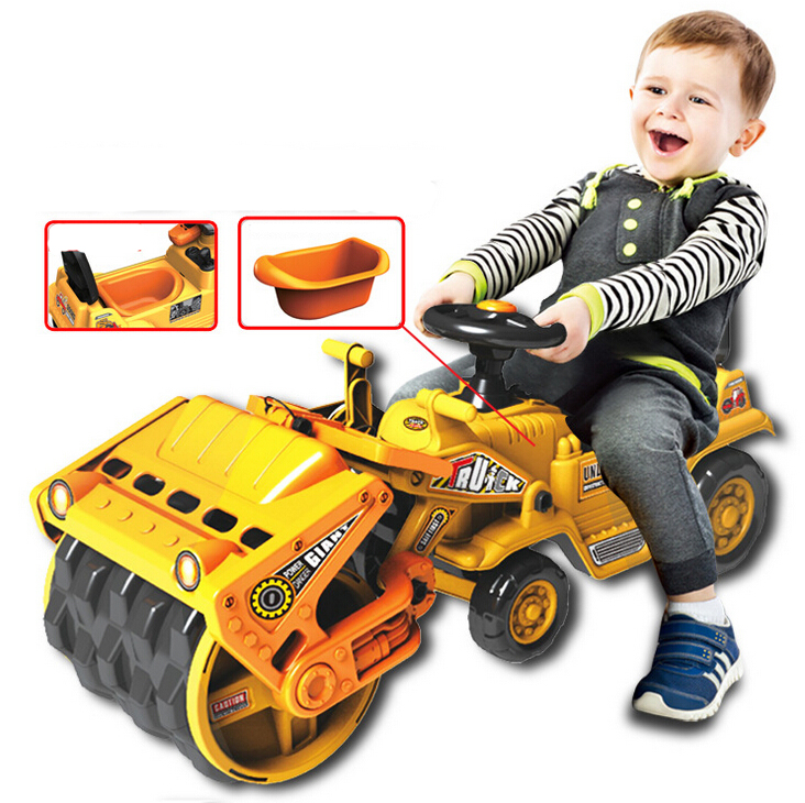 big size children car toy construction vehicles ride on slide push with baby bedpan compactors kid